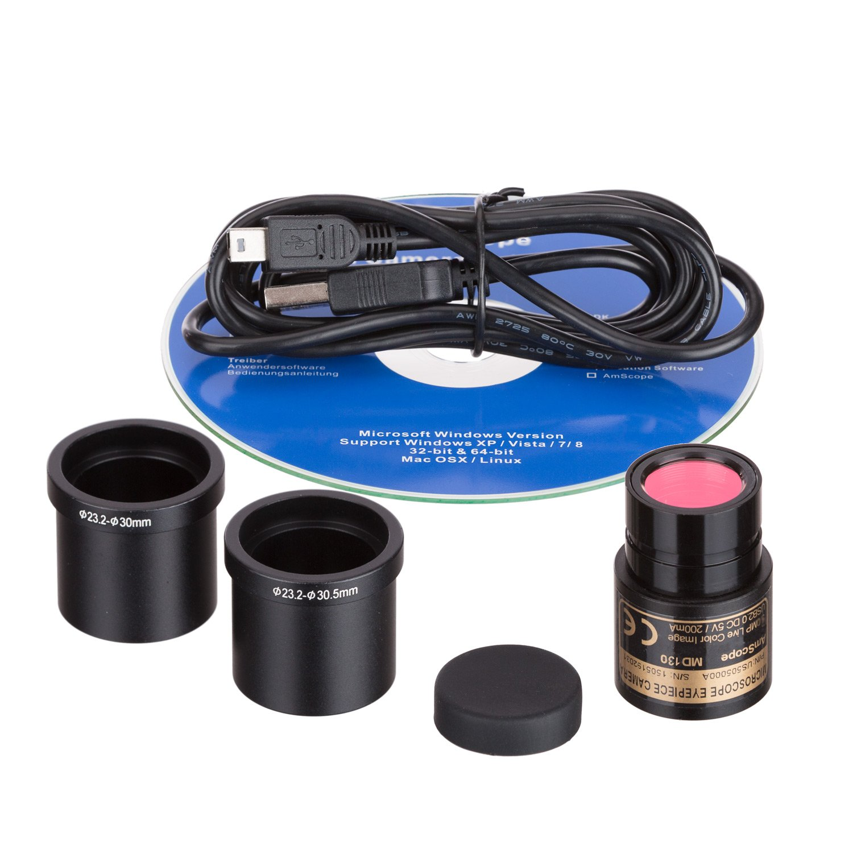 AmScope 1.3 MP USB Still & Live Video Microscope Imager Digital Camera + Calibration Kit by AmScope