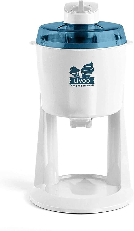 Livoo - Máquina de helado italiana, blanco y azul: Amazon.es: Hogar