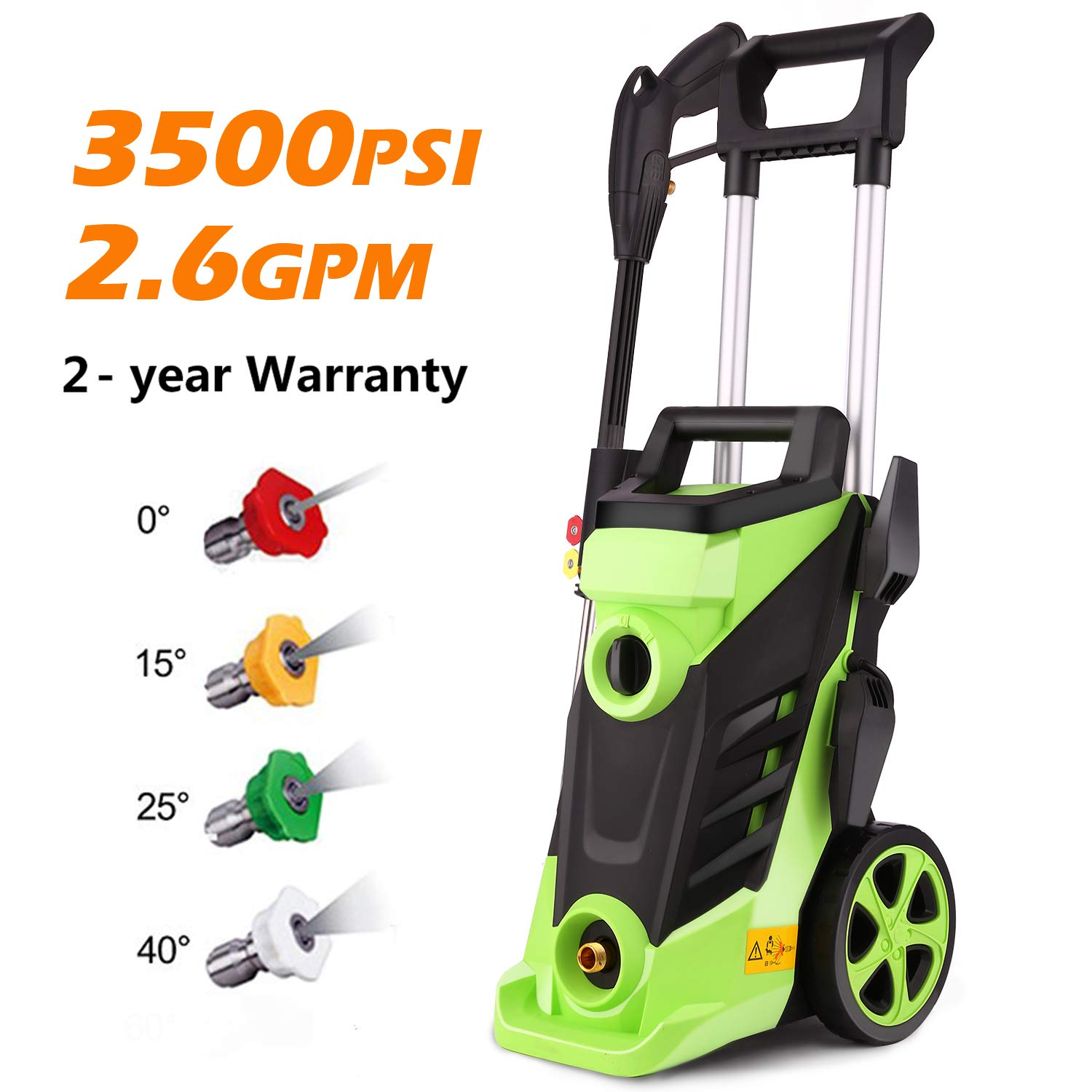 Homdox 3500 PSI Electric Pressure Washer, 2.60 GPM 1800W Professional Power Washer with 4 Nozzles