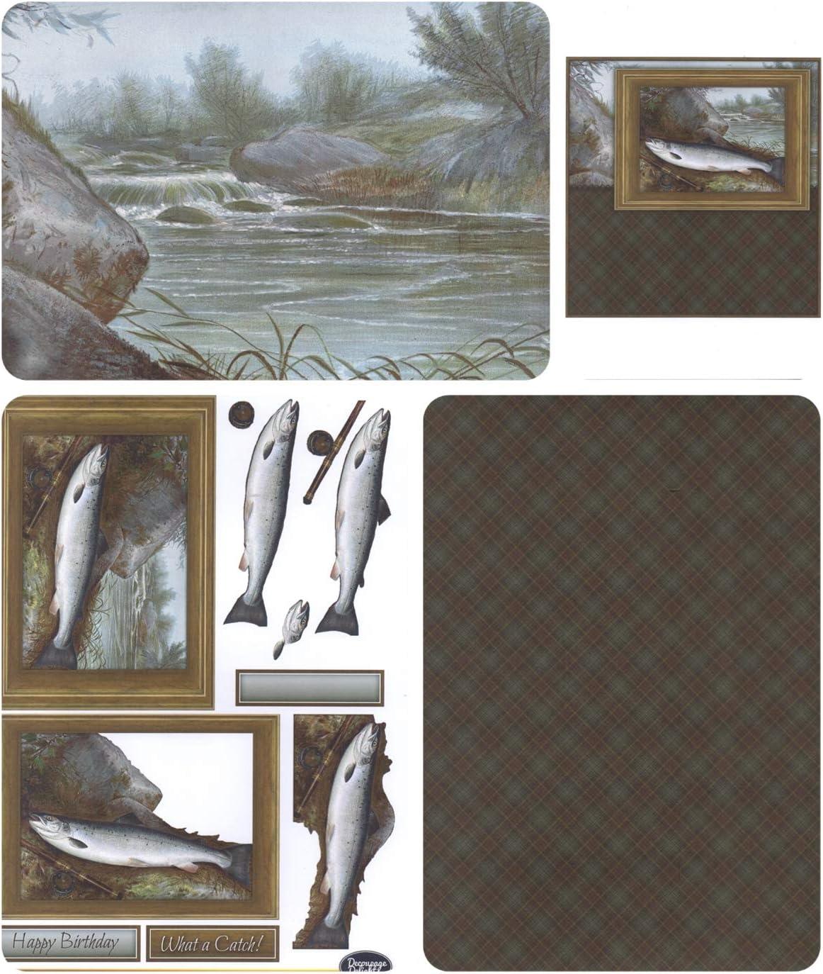 160 g//mq Confezione da 4 fogli A4 Pesca Vintage DECOUPAGE//Toppers//Carte