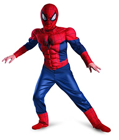 71x9hW2UONL._UX385_ amazon com ultimate spider man muscle child costume toys & games  at crackthecode.co