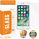 OpenTech® Tempered Glass Screen Protector for Apple iPhone 7 Plus with Installation kit (2.5 D and Full Transparent)