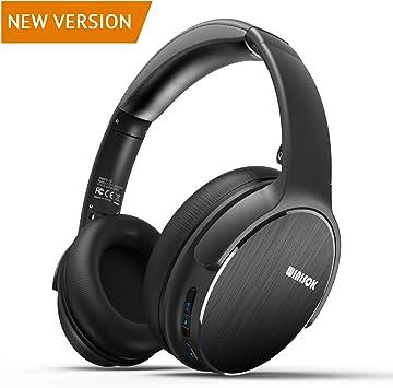 Winisok Auriculares Bluetooth Diadema, Auriculares Inalámbricos Bluetooth con Micrófono Casco Plegable Headphone Bluetooth Manos Libres y Cable de Audio para Apple iPhone X, 8, 7Plus, 6s (Negro): Amazon.es: Electrónica