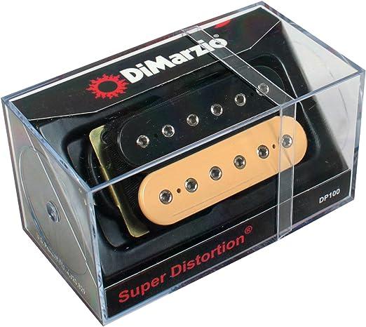 DiMarzio DP100 Super Distortion Pickup Black and Cream Regular
