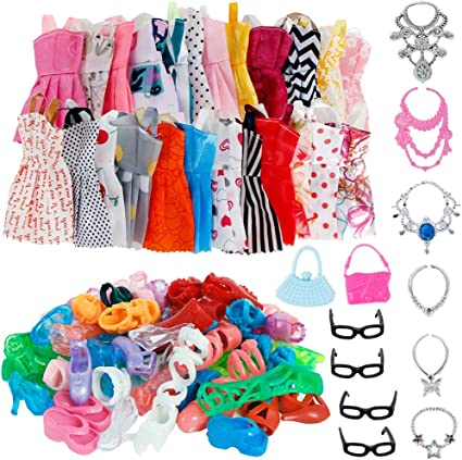 "10 Colorful Assorted Barbie Toy Purses-For 3.5/"" and 11.5/"" Fashion dolls"