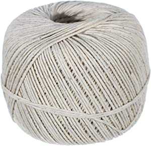 Golberg 1.5mm Polished Cotton Twine – 690 Feet – 29 Pound Break Strength – Food Safe – Cooking, Gift Wrapping, and More – Made in The USA