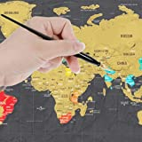 Faburo 26pcs Scratch Off World Map Poster