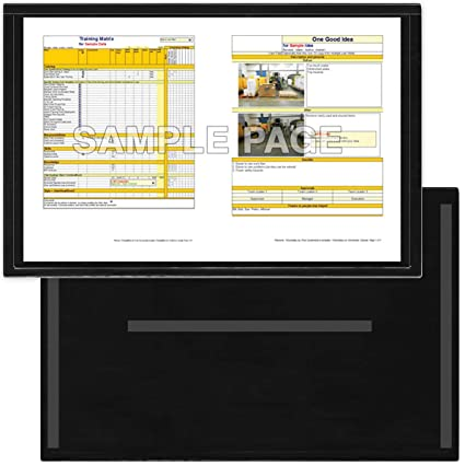 Amazon.com: StoreSMART - Black Document Frame (Window) - Magnetic ...