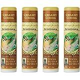 Badger - Cocoa Butter Lip Balm, Creamy Cocoa, Certified Organic Lip Balm, Fair Trade, Natural Lip Balm, Lip Butter, Lip…
