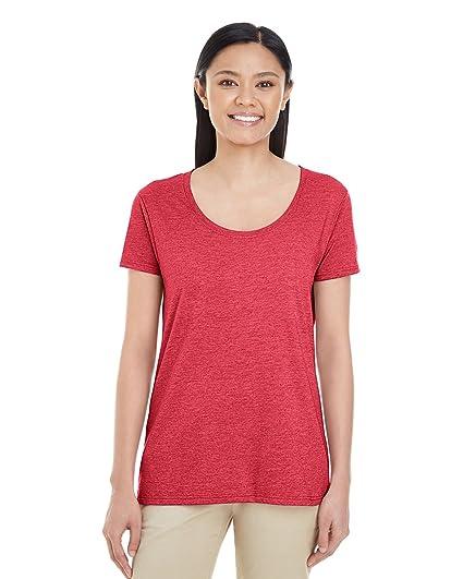 3fc4b06dbcf9 Gildan - Softstyle Women's Deep Scoopneck T-Shirt - 64550L at Amazon ...