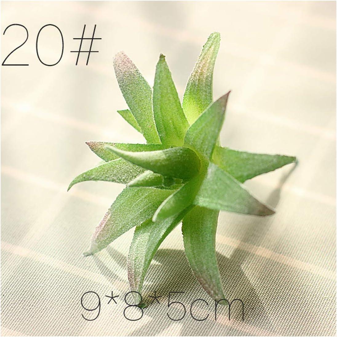 Lou Chapman Mini Artificial suculento de Las Plantas Verdes Varias Plantas de plástico Inicio Adorno de jardín Decoración Plantas Falsas, FG Xiao Lu Hui Zui