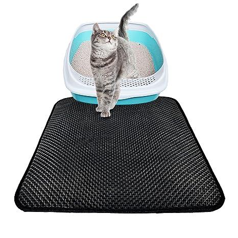 Grande alfombrilla Arenero para Gato Perro Impermeable Antideslizante Colchoneta para mascotas, Alfombrilla Nido d