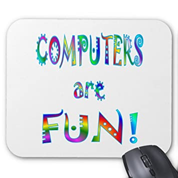 amazon com zazzle computers are fun mouse pad office products