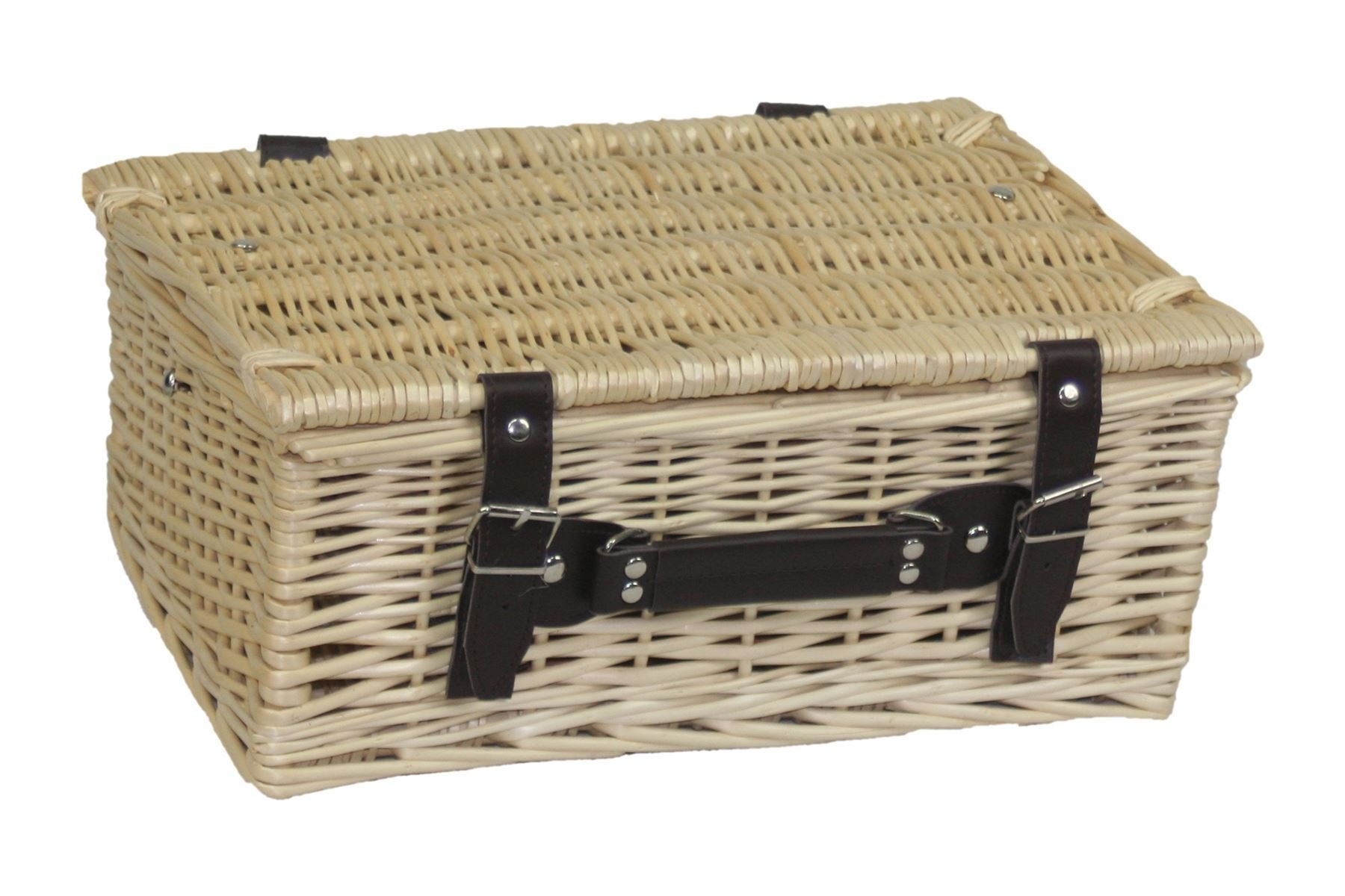 Lovely 36cm empty wick basket finished in a light summer willow by Red Hamper
