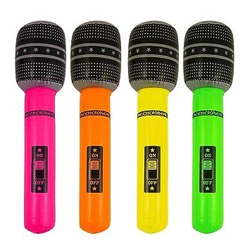 Henbrandt - Micrófono hinchable, se vende como uno solo (4 colores ...