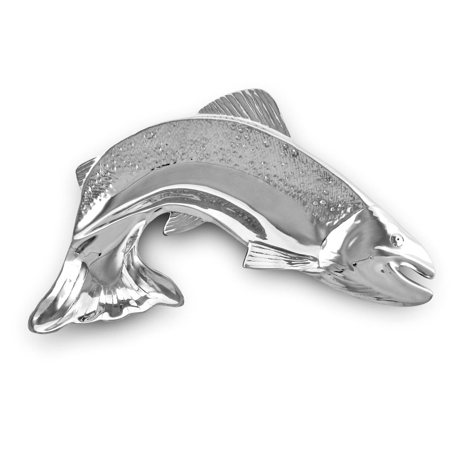 Beatriz Ball 6577 Ocean Salmon Platter With Dip Silver