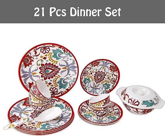 Epicurean Rio Corte 18 Piece Melamine Outdoor Dinnerware Set for 6