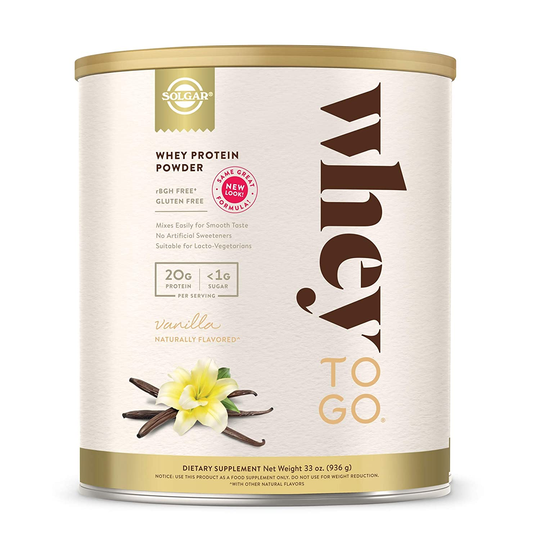 Solgar – Whey To Go Protein Powder, Natural Vanilla Flavor, 33 Oz.