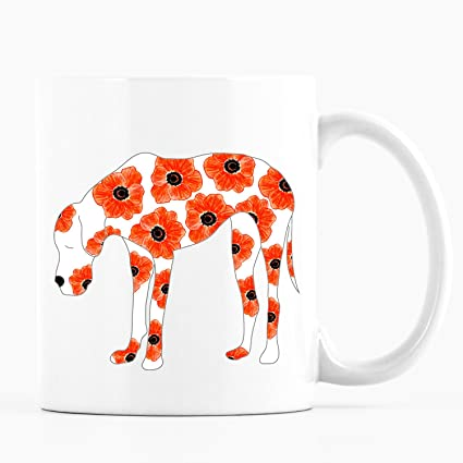 Amazon august birth flower mug dog filled with poppies august birth flower mug dog filled with poppies flower and dog mug august mightylinksfo