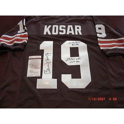 online retailer b58b4 acbf2 Bernie Kosar Browns 8789 Pro Bowl 23301 Yds-124 Tds JSA ...