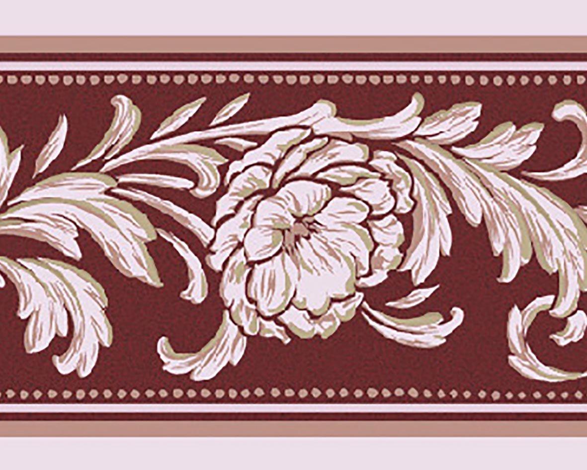 リリカラ トリムボーダー41本 エレガンス 花柄 パープル  LW-2864 B07613BZHR 41本|パープル