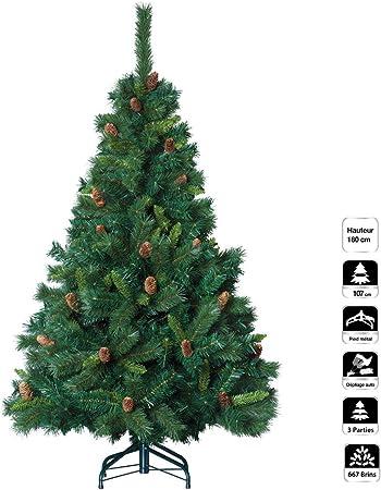 Albero Di Natale Con Pigne.Christmas Tree Albero Di Natale Artificiale Verde Con Pigne Altezza 1 80 M 642 Rami Qualita Superiore Amazon It Casa E Cucina