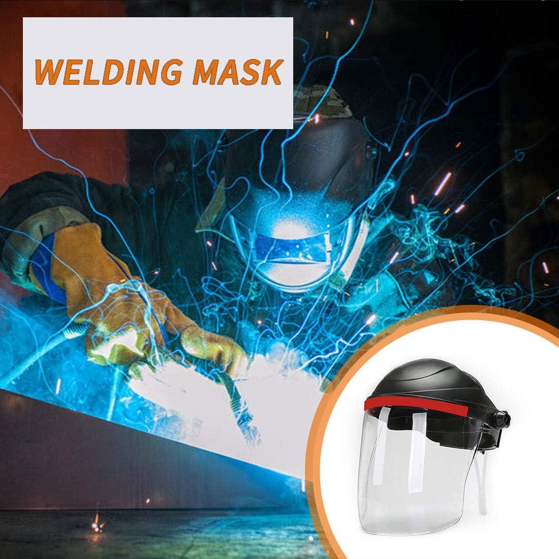 Clear Polycarbonate Window welding helmet grinding face shield,Multi-Purpose Single Crown with Ratchet Headgear Anti-Fog Coating,welding helmet
