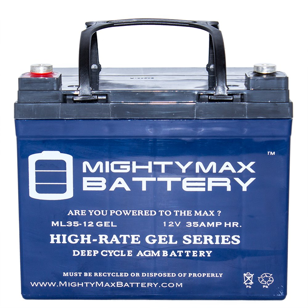 12V 35AH GEL Replacement Battery for Deep Cycle Solar 33Ah, 34Ah, 36Ah - Mighty Max Battery brand product by Mighty Max Battery