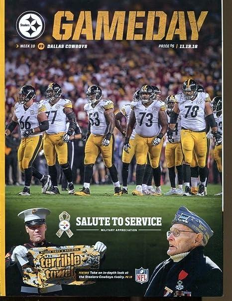 online store 76af8 9d43c 2016 Pittsburgh Steelers v Dallas Cowboys Program 11/13 ...