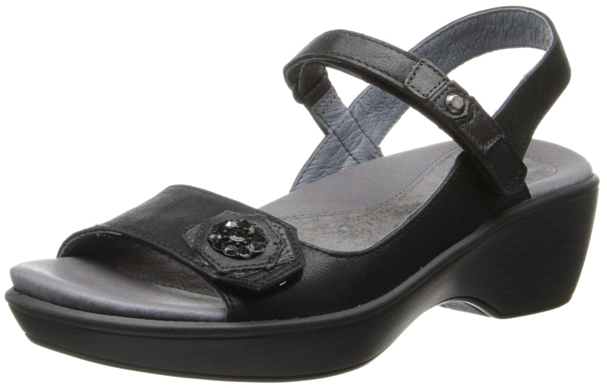 Naot Women's Reserve Dress Sandal, Black, 39 EU/8 M US by NAOT