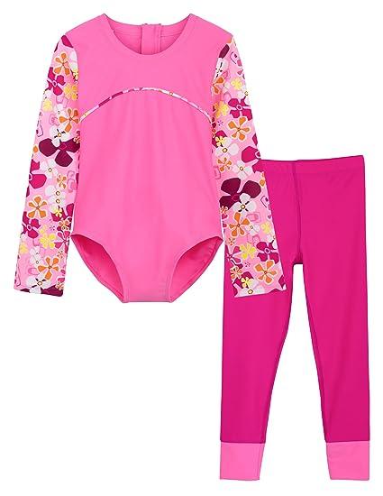 e76d3c3723c78 Amazon.com  Tuga Girls One-Piece Swimsuit   Swim Legging Set
