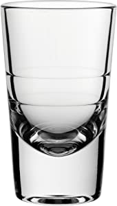 Circleware 42794 Bull Shot, Set of 6, 2.7 ounce, Clear Heavy Base Glassware Drinking Glass Cups for Whiskey, Vodka, Brandy, Bourbon & Best Selling Liquor Beverage Gifts