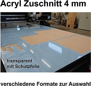 Acrylglas Zuschnitt Plexiglas Zuschnitt 2-8mm Platte//Scheibe klar//transparent 8 mm, 600 x 500 mm