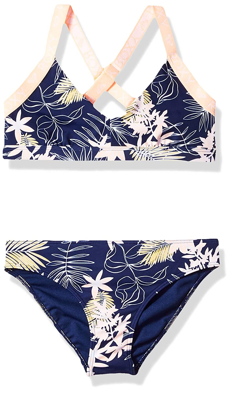 63c567da08880 Amazon.com: Roxy Big Girls' Bikini Point Athletic Swimsuit Set: Clothing