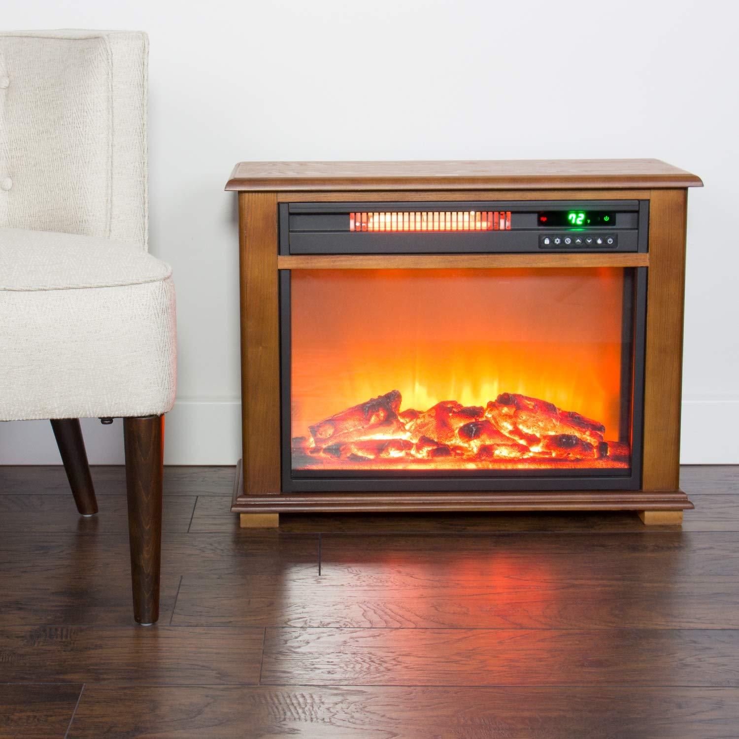 Amazon Com Lifesmart Freestanding Electric Fireplace With Remote In