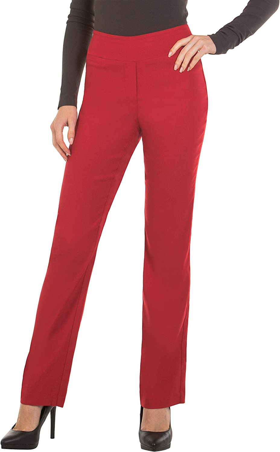 Red Hanger Bootcut Dress Pants for Women Stretch Comfy Work Pull on Womens Pant