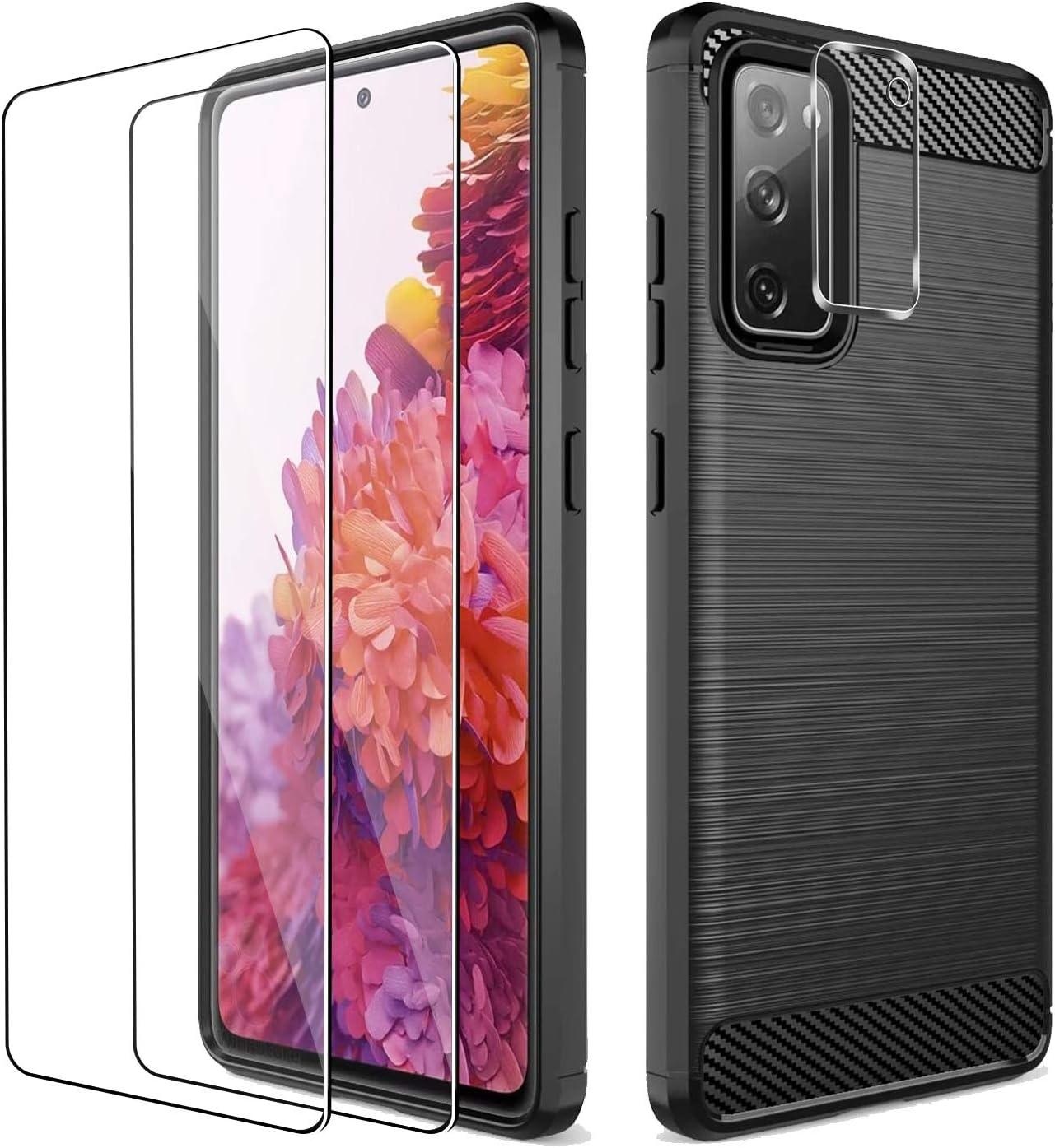Funda y vidrios protectores para Samsung Galaxy S20 FE 5G