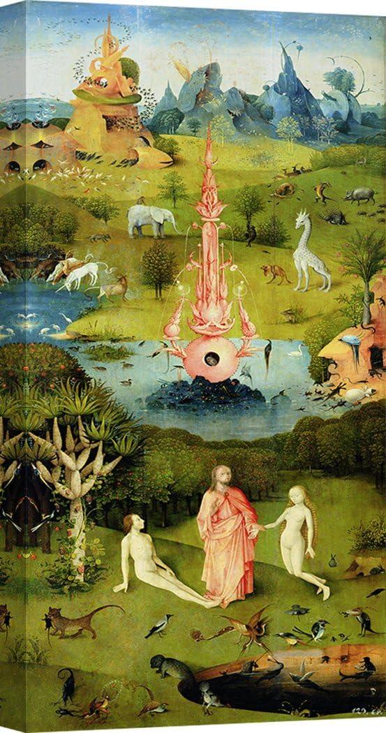 Art Print Cafe – Cuadro – Impresion sobre Lienzo - Hieronymus Bosch, El jardín de Las delicias I – 140x70 cm: Amazon.es: Hogar