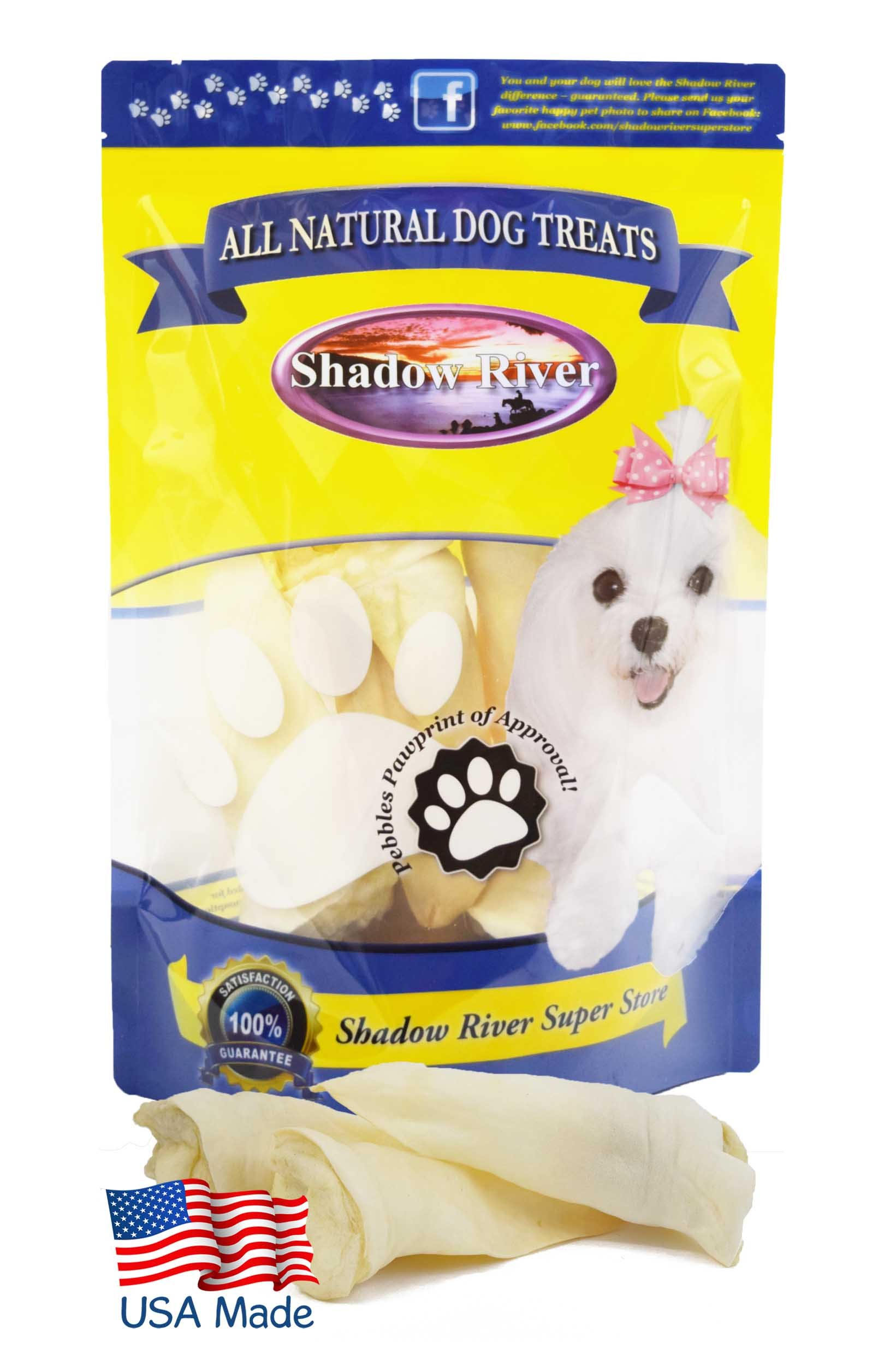 Shadow River Lamb Ear Chews for Dogs - Premium All Natural Treats - 25 Pack Regular Full Size Ears