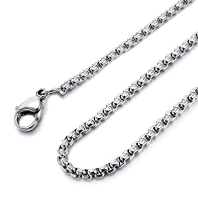 justneo chain silver oval basic cable sterling plate chains necklace with rhodium solid item