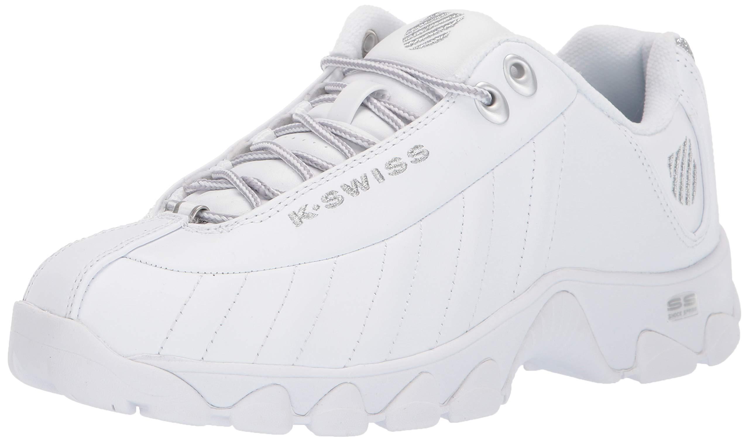 ST329 CMF Sneaker, White/silver Glitter