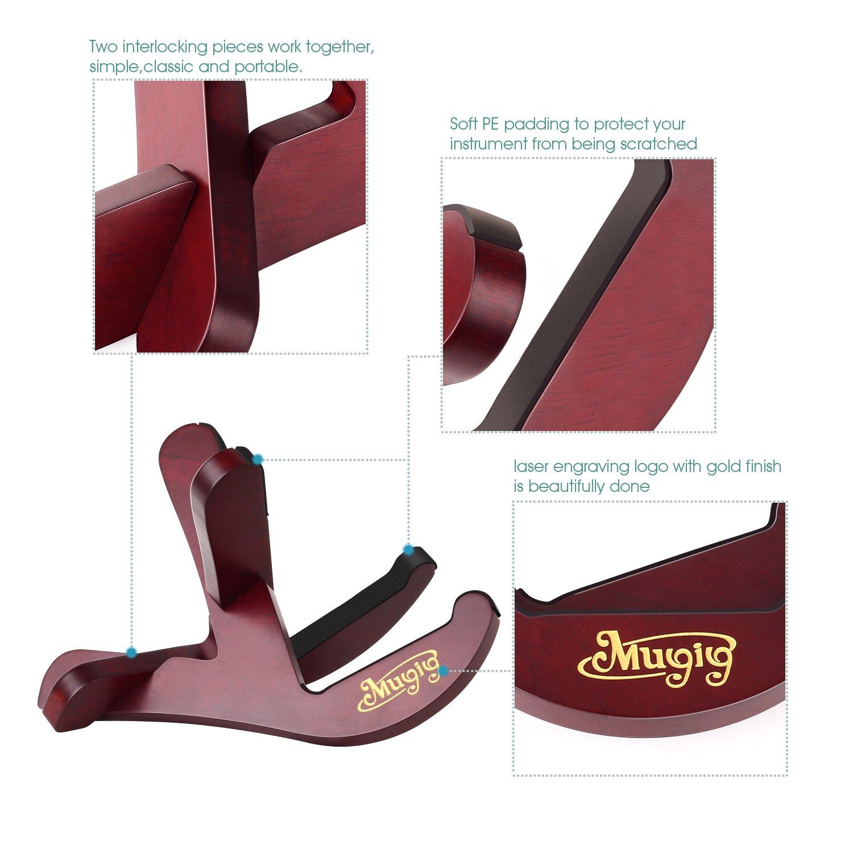 Mugig Support Ukul/él/é D/étachable de Bois pour Ukul/él/é Violon Mandoline