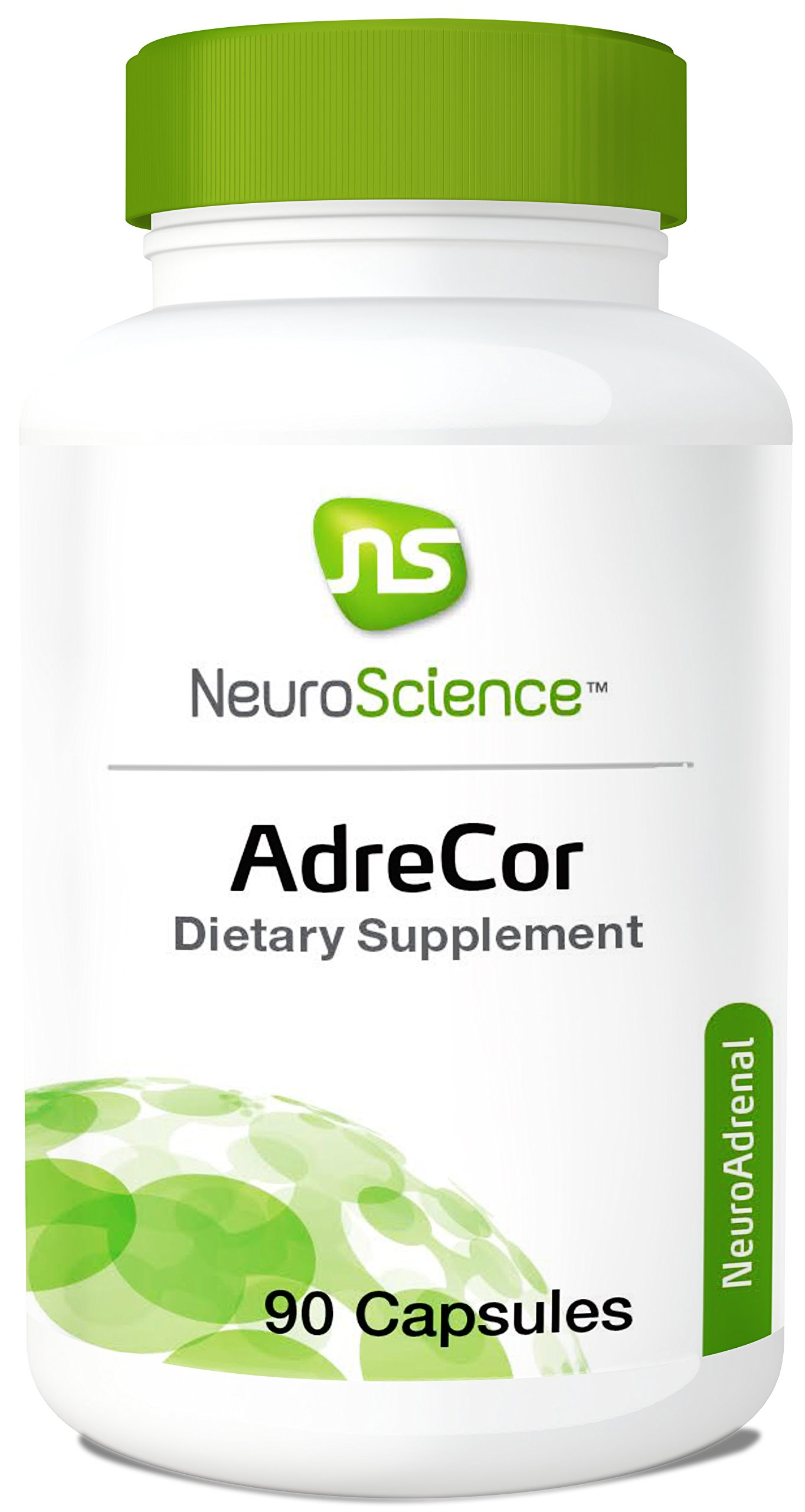 NeuroScience AdreCor - Adrenal Energy Support Complex with Rhodiola and Histidine to Help Reduce Fatigue and Stress (90 Capsules)