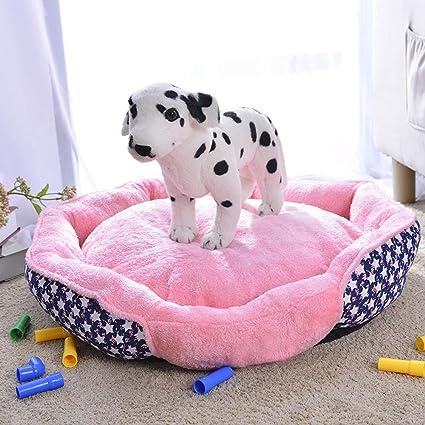 Daeou Cama para Mascotas Paño Rosa Gato Basura Kennel