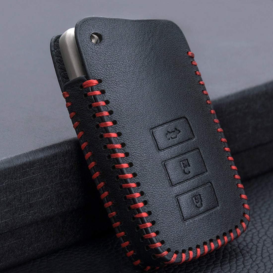 Cajek for Lexus Key Fob Case TPU Skin Cover Protector with Keychain Compatible with 2013-Up Lexus RX RC ES is GS NX GX LX LS UX LC 3//4 Buttons Smart Keyless Entry Remote Control Blue