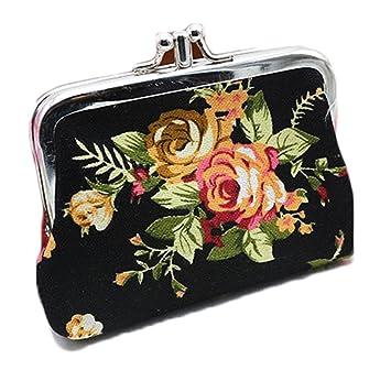 iSuperb® Monedero con estampado de rosas, lienzo, regalo ...