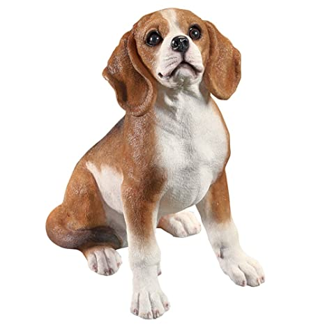 Beau Collections Etc Outdoor Dog Breed Garden Statue Figurine   Beagle Sitting