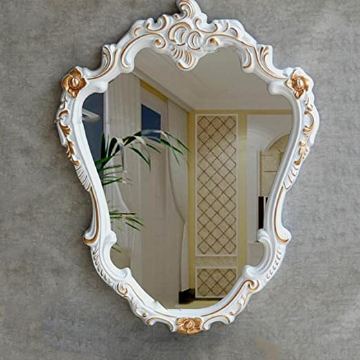 YMXLQQ Europea Jardín De Resina De Resina Espejo Decorativo Espejo ...