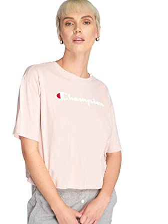 cf037550 Image Unavailable. Image not available for. Color: Champion Women's Crew  Neck Cropped Tshirt ...