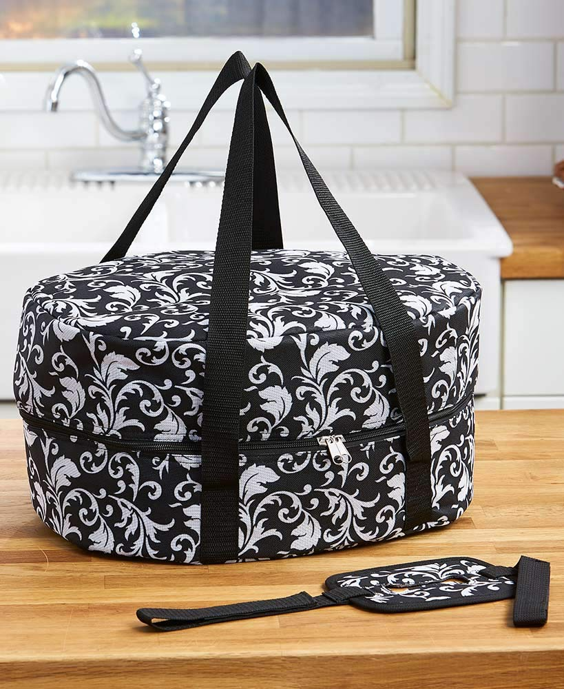 The Lakeside Collection Slow Cooker Carriers - Damask
